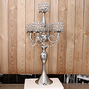 40cm Silver CANDELABRA Plated candle holder with 5 Arm for wedding