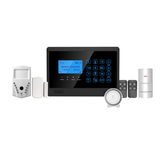 Wireless WiFi GSM Ios/Android APP Control LCD GSM SMS Burglar Alarm System for Home pictures & photos