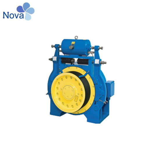 Load Elevator Gearless Traction Machine with Roping 2: 1