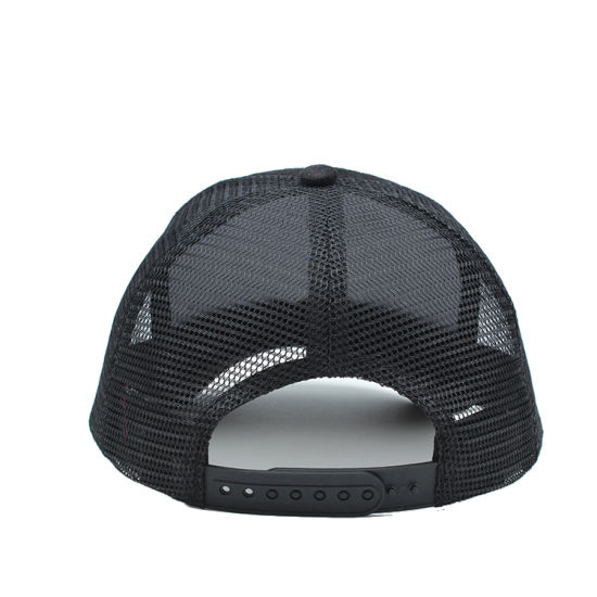 989e278c553 China Custom Plain Blank Black Suede Mesh Cap Trucker Hat - China ...