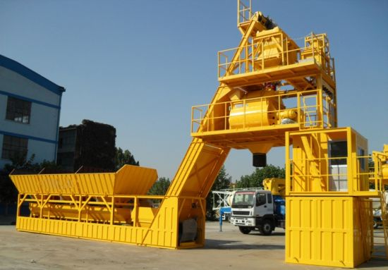 Stationary Concrete Batching/Mixing Plant with Sicoma Mixer for Construction
