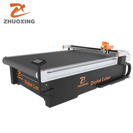 Jinan CNC Digital Car Foot Mat Pattern Cutting Machine with Oscillatory Knife