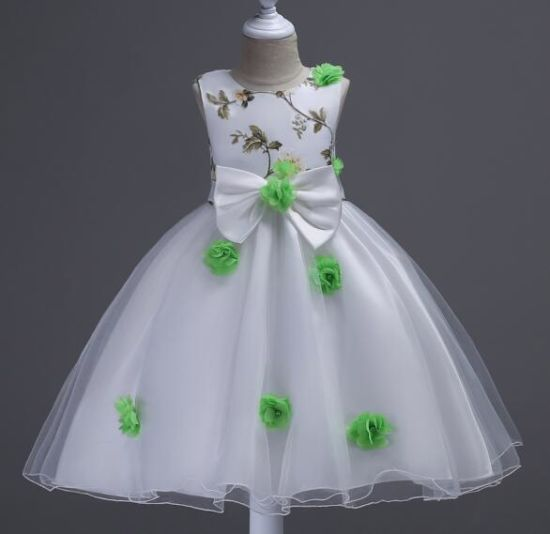 China Princess Lace for Wedding Organza Kids Evening Gown - China ...