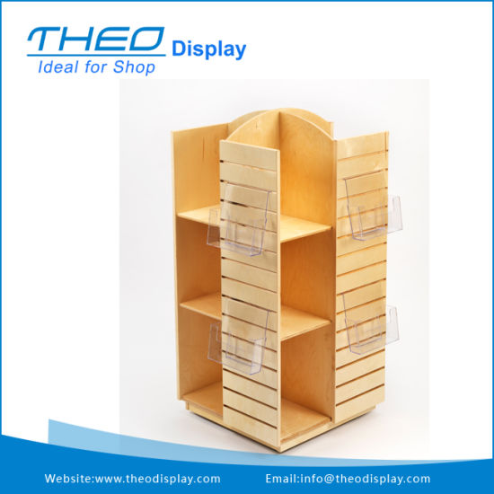 China Movable Wooden Book Display Storage Stand With Acrylic Holder Simple Wooden Book Display Stand