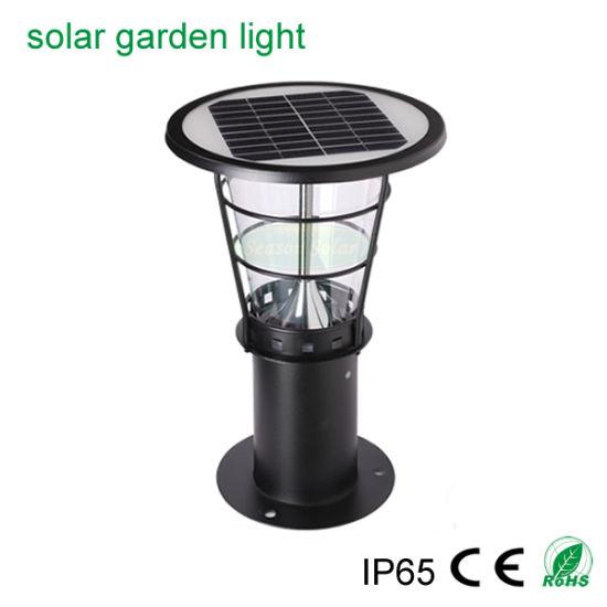 Smart LED Energy Saving Lamp Solar Bollard Light with LED Light Lamp