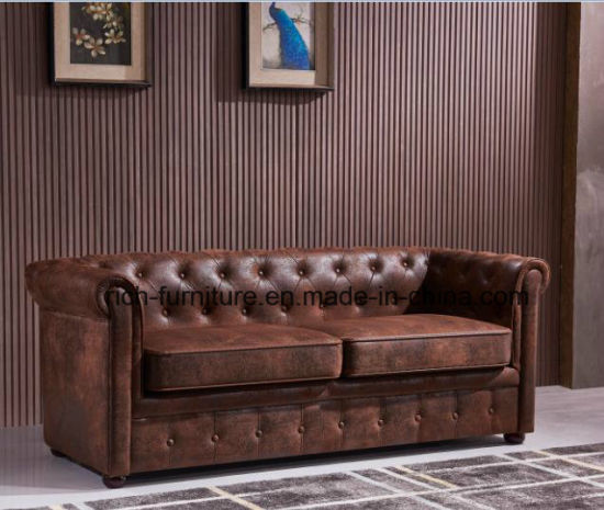 Best Seller Classic Design Vintage Leather Sofa pictures & photos