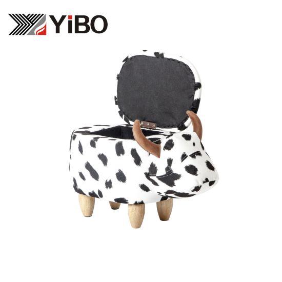 Thickness Leather Storage Design Modern Footstool Animal Kids Pet Stool
