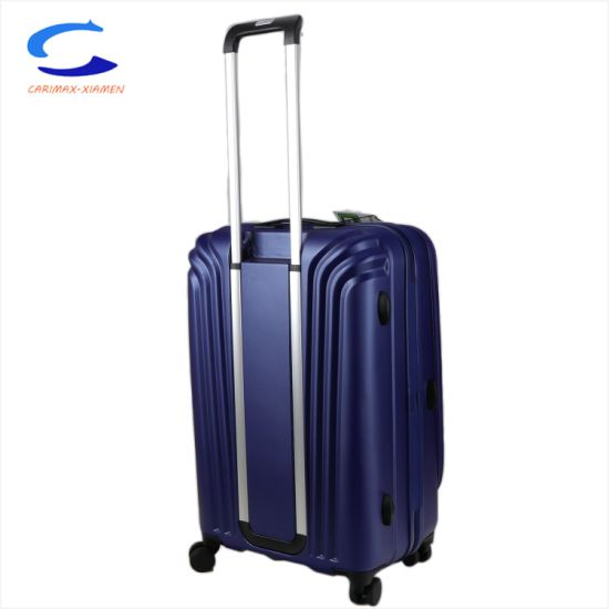 "China Hot Sale 20"" Blue Super Light Dynamic Design PC Front Laptop Bag Double Side Zipper Tsa Lock 4 Spinner Wheel Carry on Travel Suitcase Carry on Luggage pictures & photos"