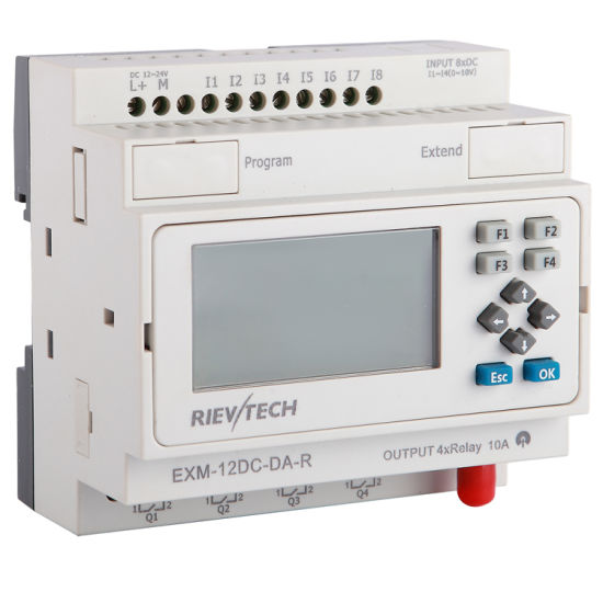 Factory Price Programmable Logic Controller GSM/SMS/GPRS PLC (Programmable Relay for Intelligent Control EXM-12DC-DA-R-HMI)