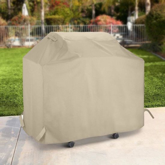 Heavy Duty Waterproof All Weather Protection Beige Barbeque Grill Cover