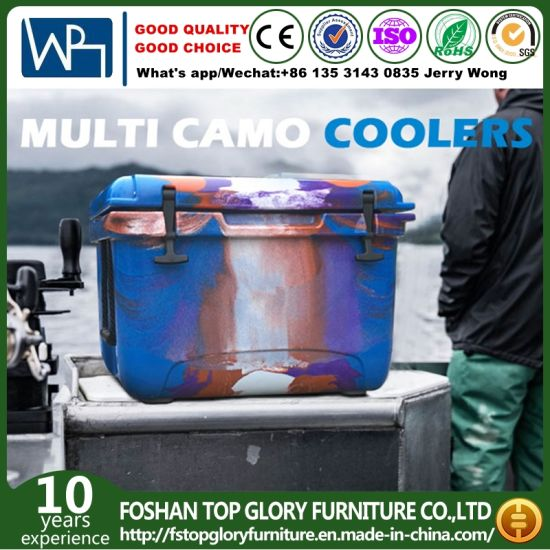 Rotomolded Polyethylene Outdoor Insulated Picnic Cooler Box Lunch Bag Food  Heat Preservation Box (TG-R04B) 25L