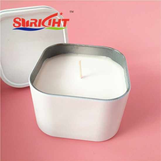 Wholesale White Square Tin Scented Soy Wax Candle