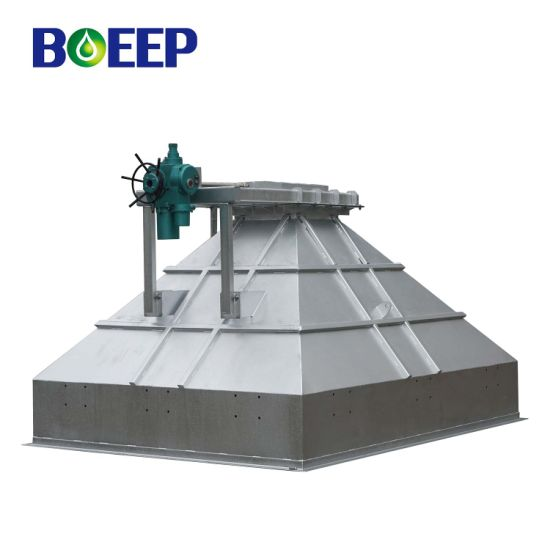 Automatic Sludge Cake Feed Hopper Used in Wastewater Management Process
