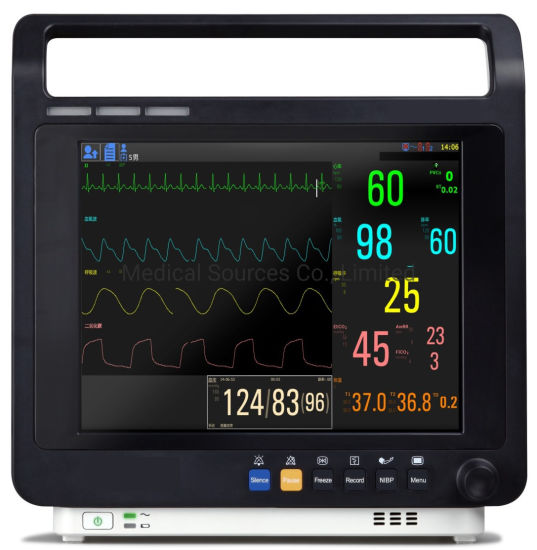 12 Inch Touch Screen ECG Multi-Parameter Patient Monitor (MS-8800)