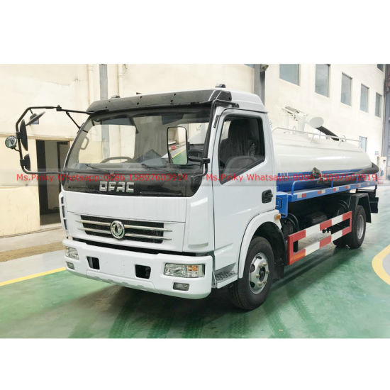 Factory Directly Sales Cheaper Price DFAC Septic Tank Truck 6000liters Vacuum Fecal Suction Truck for Sales