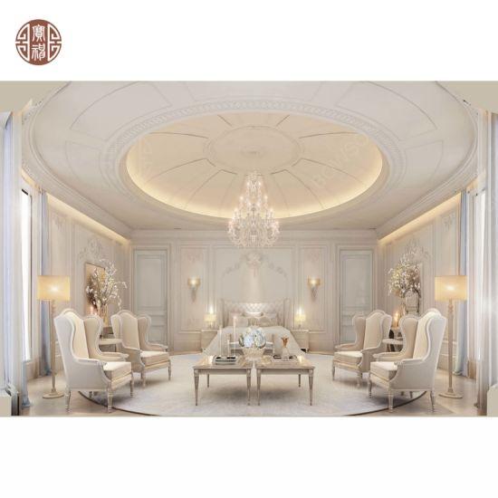 Classical Luxury Solid Wood Villa Bedroom Furniture Design