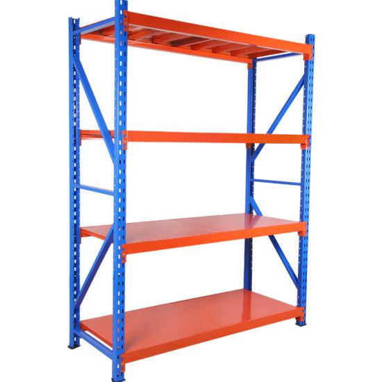 4 Layer Blue Upright Frame Medium Duty Rack