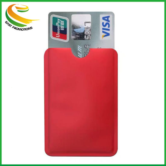 Custom Logo Aluminum Foil Wallet ID Credit Card Holder Anti RFID Scanning pictures & photos