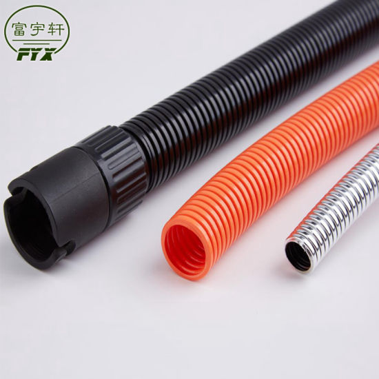 Factory Wholesale PA Plastic Flexible Corrugated Electrical Conduit Pipes