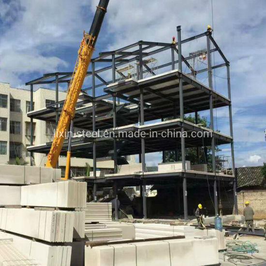 Four Floors Steel Structure Frame Villa Prefabricated Building Prefab House