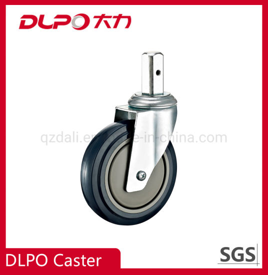 Dlpo Square Stem Single Wheel Medical Hospital Swivel Caster Wheels