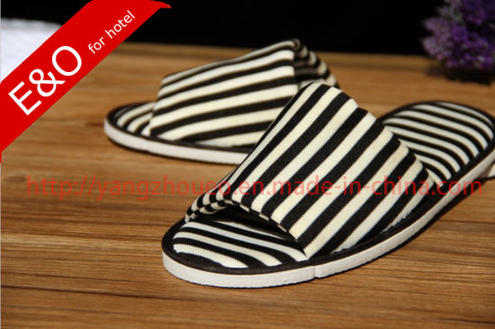 Stripes Color Simple Style Cotton Fabric Indoor Room Slippers in Market