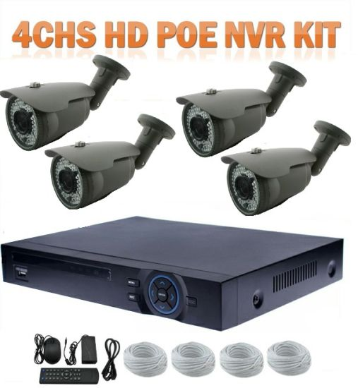 Best Security DVR System 4CH 2.0MP HD Poe NVR Kits Smart Home Security IP Camera System pictures & photos