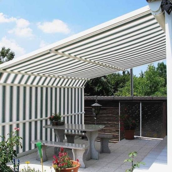Outdoor Sun Shades Motorized Retractable Car Awnings/Aluminum Patio  Cover/Motorized Awnings