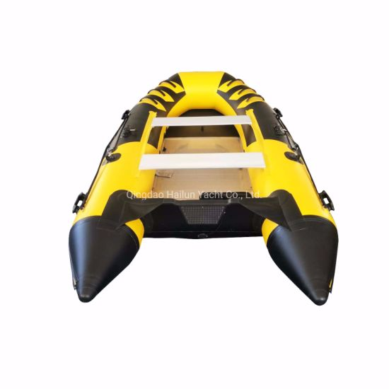 China Factory Produce Inflatable PVC Boat Aluminum Floor Sport Boat
