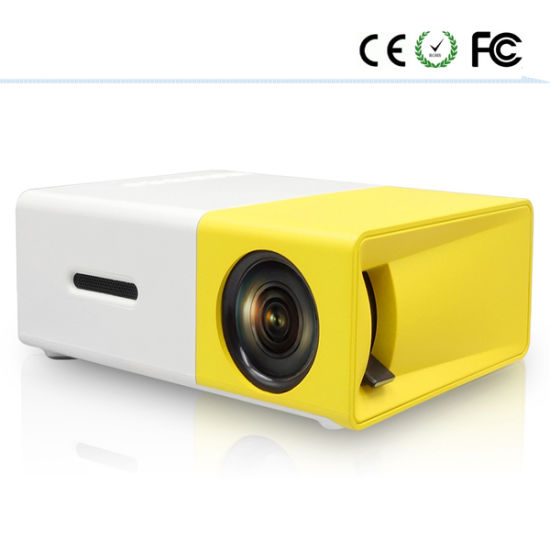 74c3b00f384b58 Palm Sized Mini Mobile Home Theater LED Projector Yg300 pictures & photos