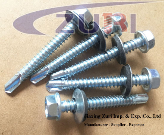 "Self Drilling Roofing Screw with EPDM Washer #14*4"" pictures & photos"