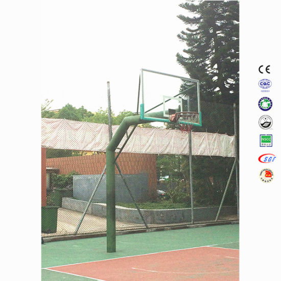 Cheap in-Ground Outdoor 10FT Basketball Post on Park or Backyard pictures & photos