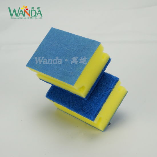 Double Functions Non-Woven Cloth Scouring Sponge Cleaning Sponge pictures & photos