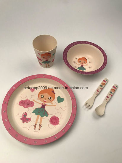 Eco-Friendly Bamboo Fiber Kids Dinnerware Sets & China Eco-Friendly Bamboo Fiber Kids Dinnerware Sets - China Bamboo ...