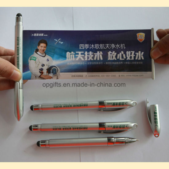 Promotion Touch Screen Stylus Pen with Roll out Paper pictures & photos