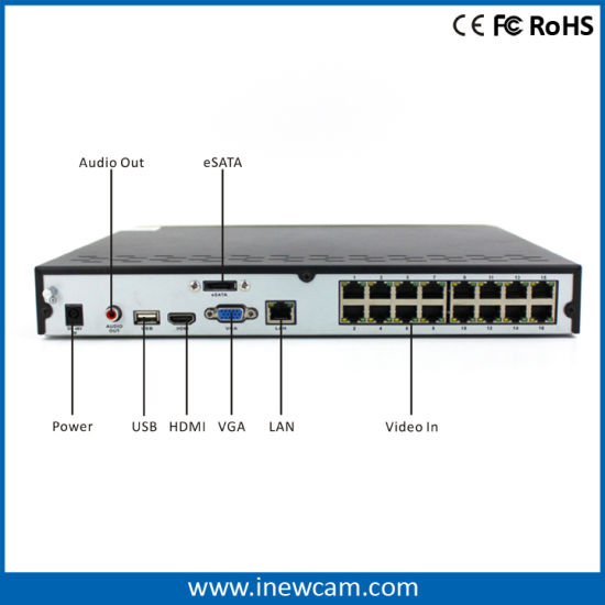 H. 264 P2p Network 4MP 16CH Poe NVR pictures & photos