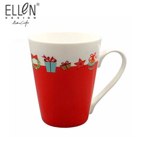 China Red Color Promotion Ceramic Tea Mug Coffee Cup pictures & photos