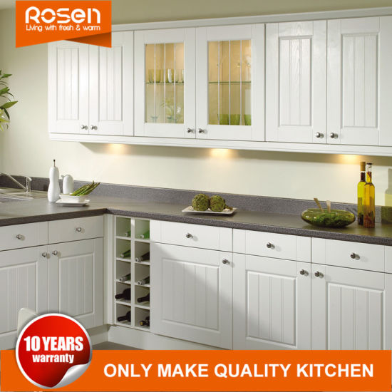 Staining White Glass Door Kitchen Cabinets with PVC Sheets