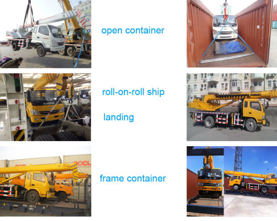 Cheapest Telescopic Boom Crane Truck with 6.3 Tons Flatbed for Sale pictures & photos