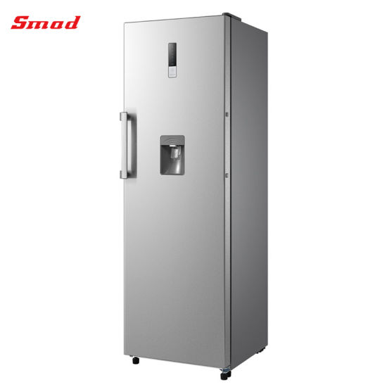 350L Home Stainless Steel Upright Freezer with Water Dispenser
