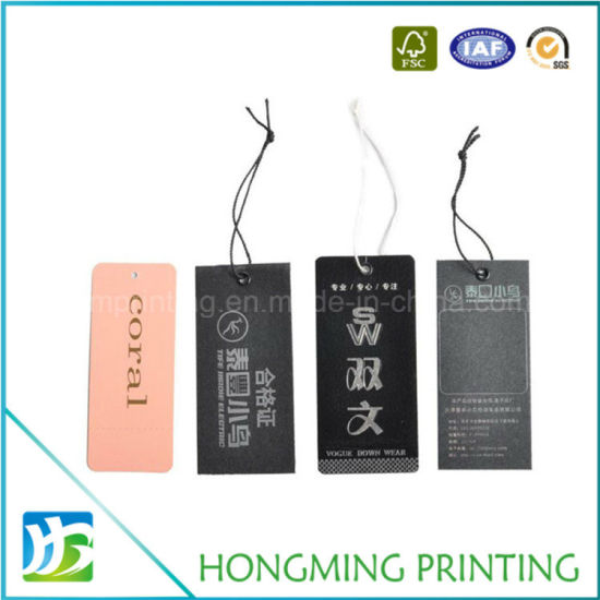 Custom Printing Clothing Paper Hang Tag