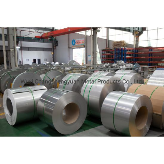 Building Material 1.4301 201 304 316 316L 310S 430 409 2205 321 410 420 904L Stainless Steel Coil with Factory Price and 2b Ba No. 4 Hl Surface pictures & photos