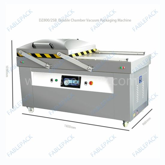 Double Chamber Meat Sea Foods Vacuum Packing Machine (DZ-800/2SB) pictures & photos