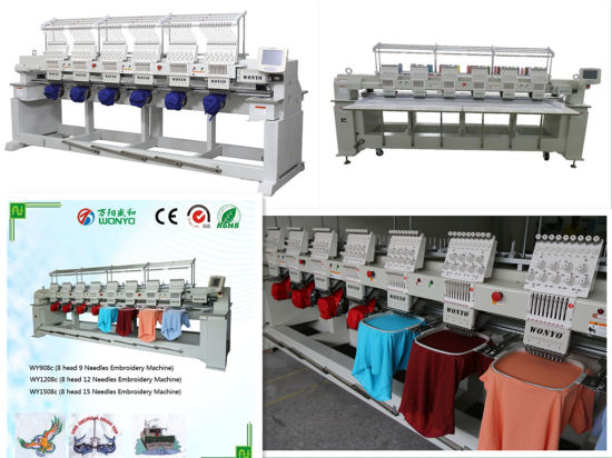 Wonyo 6 Heads Embroidery Machine Computerized Operation High Speed Top Quality Embroidery Machine with Reasonable Price pictures & photos
