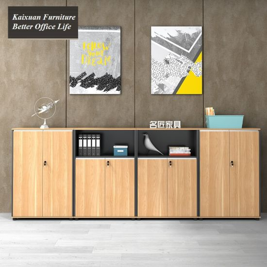 Modern Wood Storage Melamine Safety Lock Office Cabinets for Filing