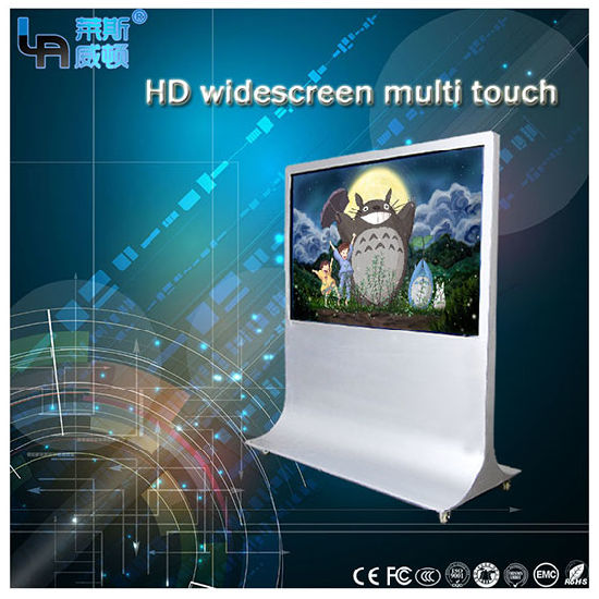 Lasvd 84 Inch LED Scren 3D Monitor 4k Monitor LCD Interactive Win7/8/10 OS Stand TV PC