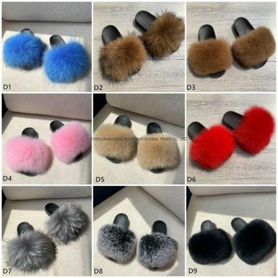 Fur Sandals/ Baby Fur Slides Fur Slides