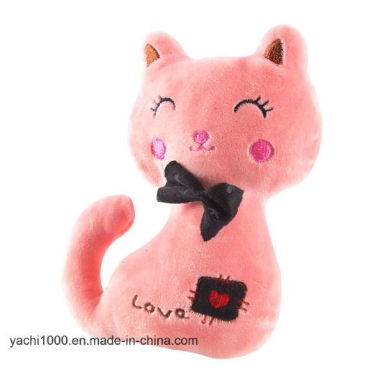 Custom Wholesale Soft Stuffed Plush Animal Cat Toy