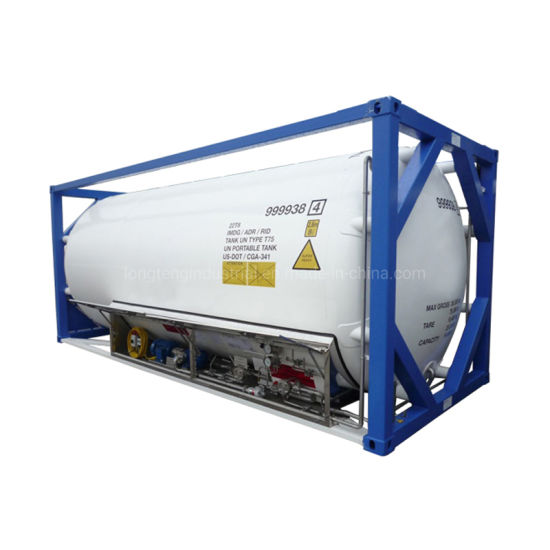 China T75 Cryogenic Liquid Gas LNG Lo2 Ln2 20FT ISO Tank Container - China LNG  Tank Container, LNG ISO Tank Container