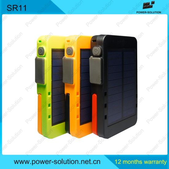 Solar Powerbank with Torch and Rading Light pictures & photos